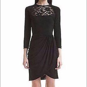Belle by Badgley Mischka Black Lace Top Dress